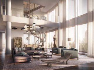 Spanning From The 58th Floor To The 60th The Penthouse Has Full Height Window Walls That Give A 360 Degree View Of Manhattan
