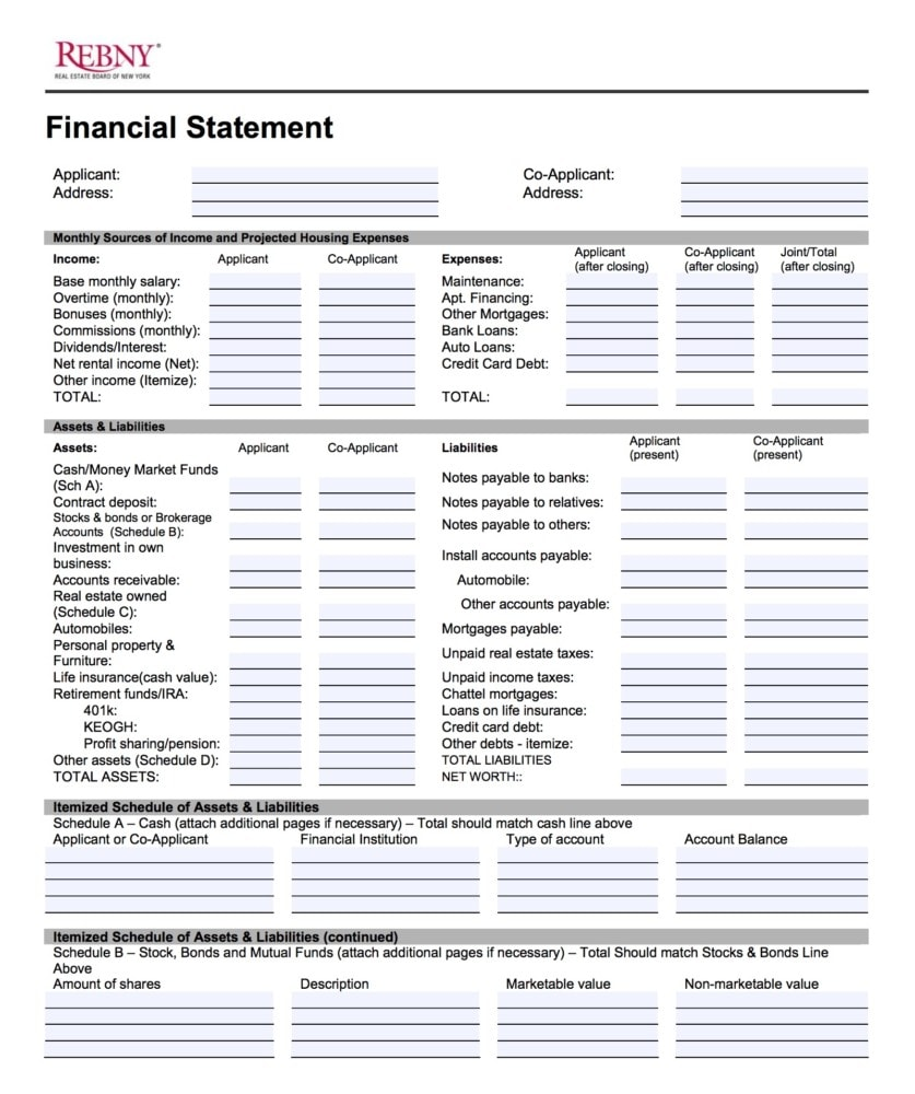 REBNY Financial Statement