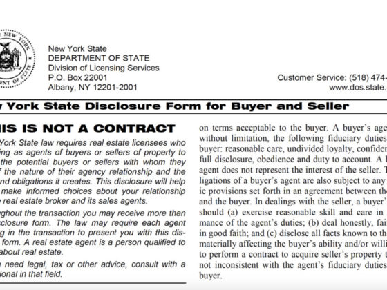 NYS Agency Disclosure Form