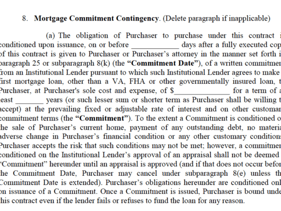 Mortgage Contingency Clause