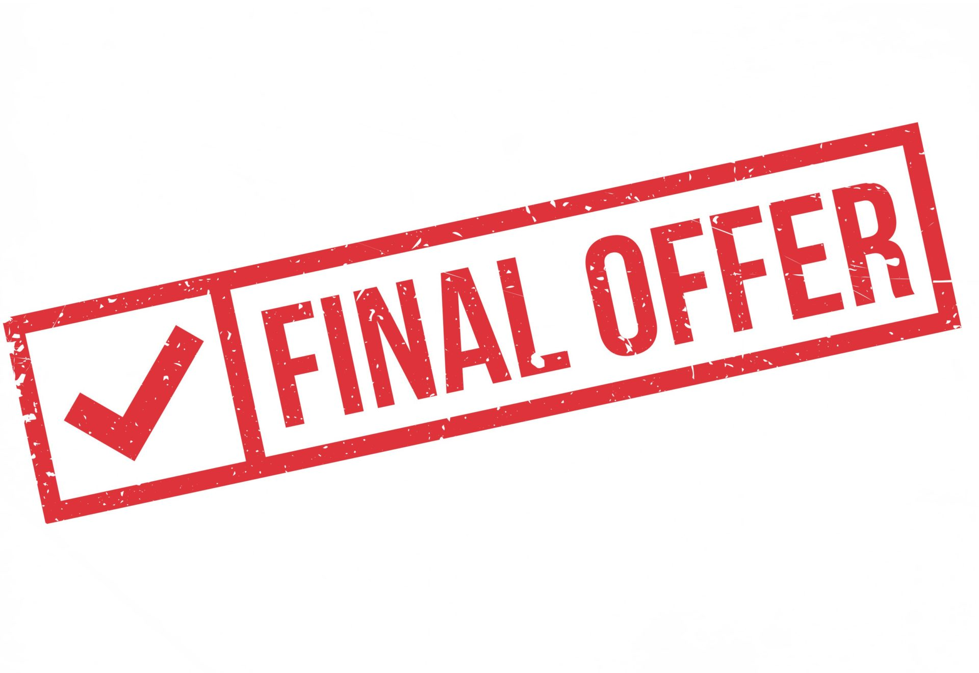 Best and Final Offer