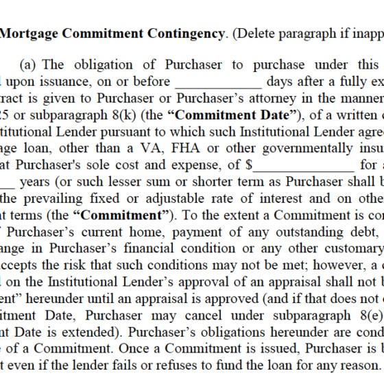 What Mortgage Contingency Clause Elika Insider