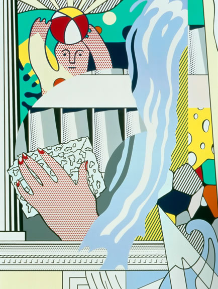 Mural-With-Blue-Brushstroke-by Roy-Lichtenstein