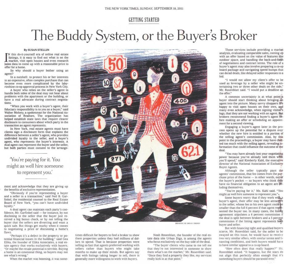 NEW YORK TIMES BUYER'S BROKER